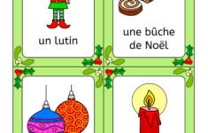 French Christmas Words Worksheet