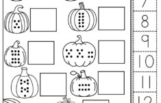 Cut Out And Glue Halloween Worksheet