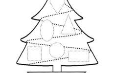 Christmas Shapes Worksheet