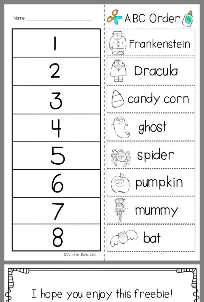 Pinclaire Ramsay On School   Abc Order, Word Work