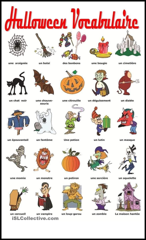 Pinmonica Zama On French   Halloween Worksheets