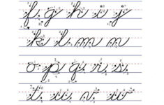 Cursive Alphabet How To Write
