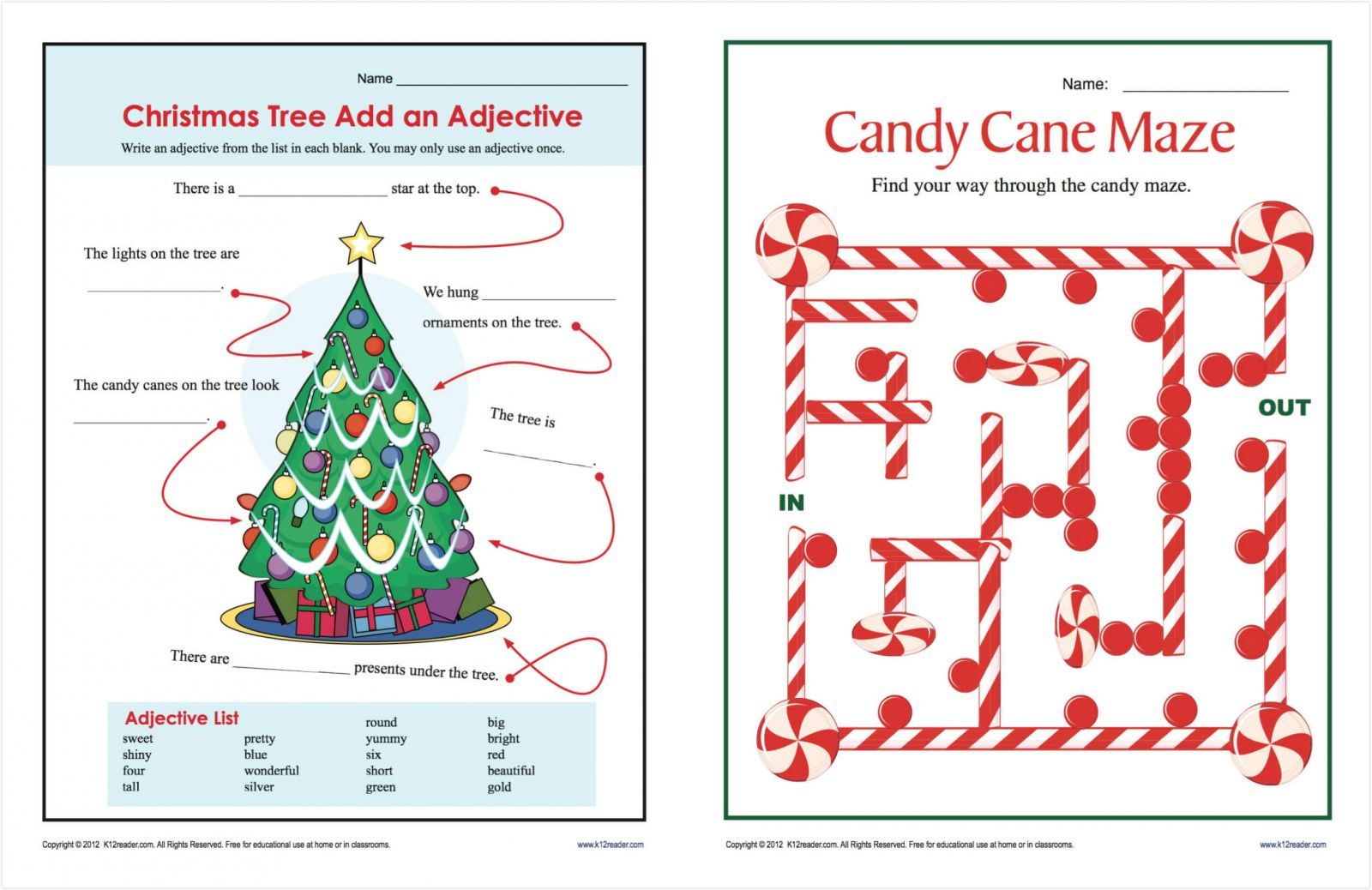 Popular Christmas Worksheets Pdf For Free Print And Download