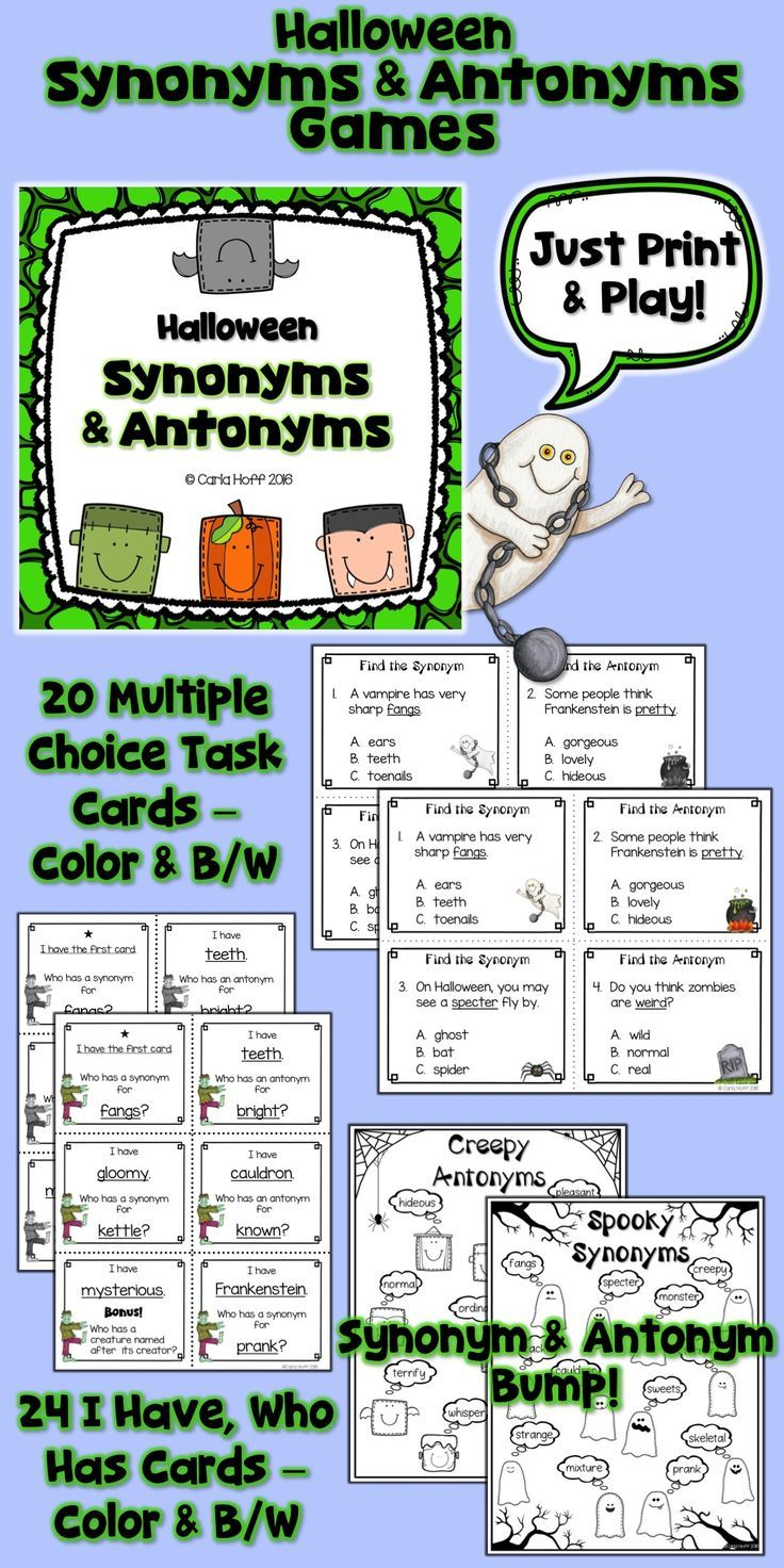 Practice Halloween Vocabulary With These Print & Play