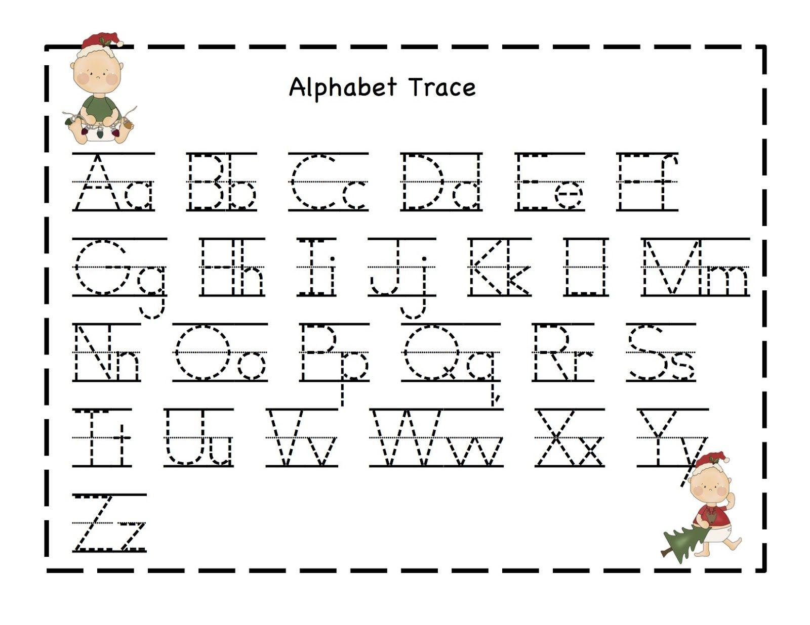 Preschool Printables: Christmas   Alphabet Writing