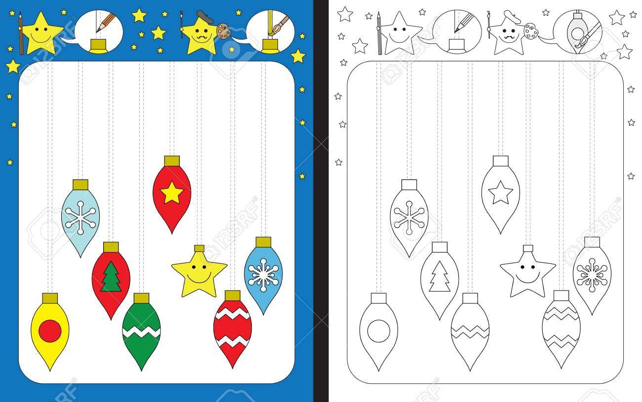 Preschool Worksheet For Practicing Fine Motor Skills - Tracing..