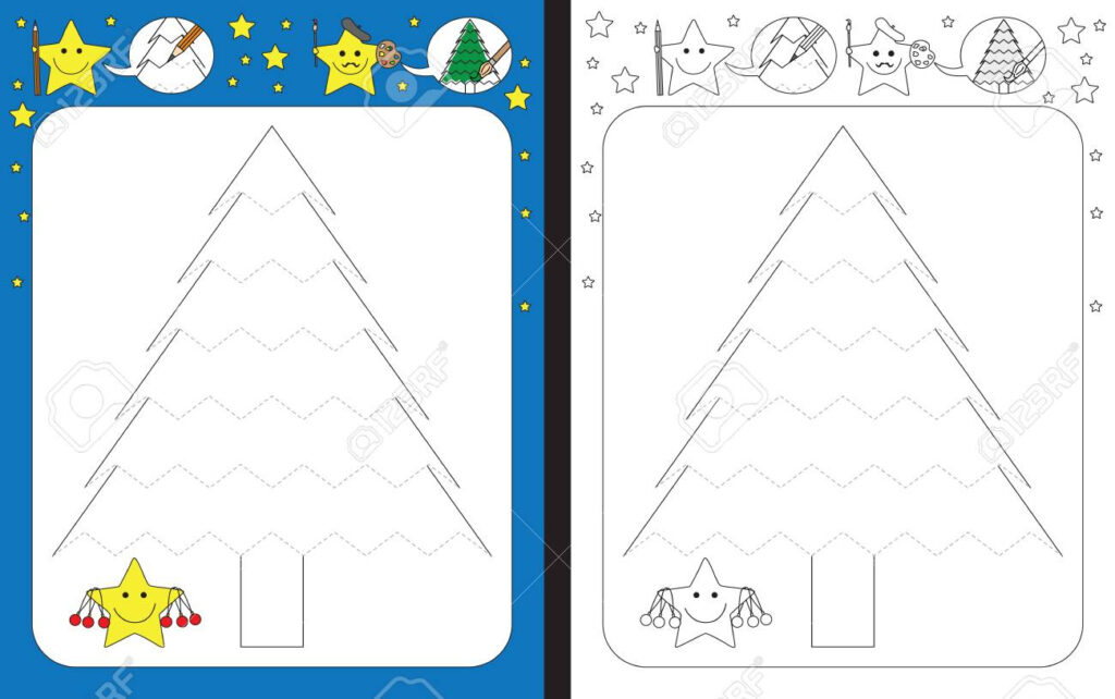 Preschool Worksheet For Practicing Fine Motor Skills   Tracing..