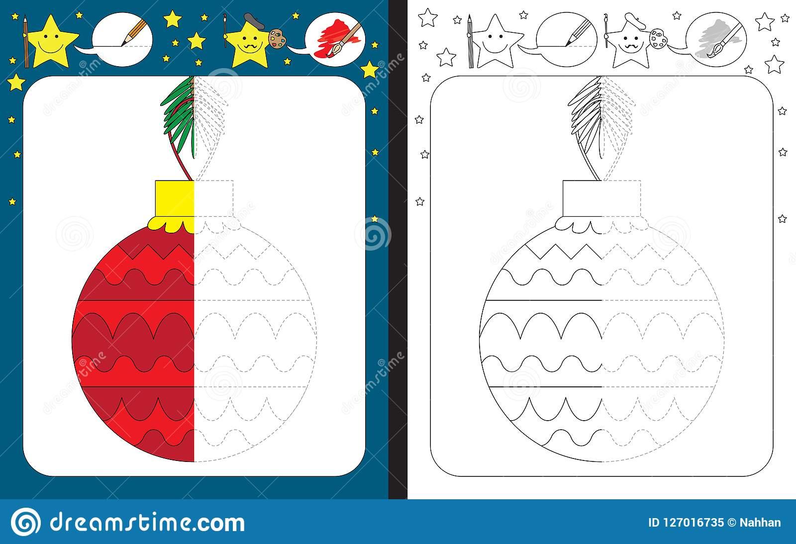 Preschool Worksheet Stock Vector. Illustration Of Line