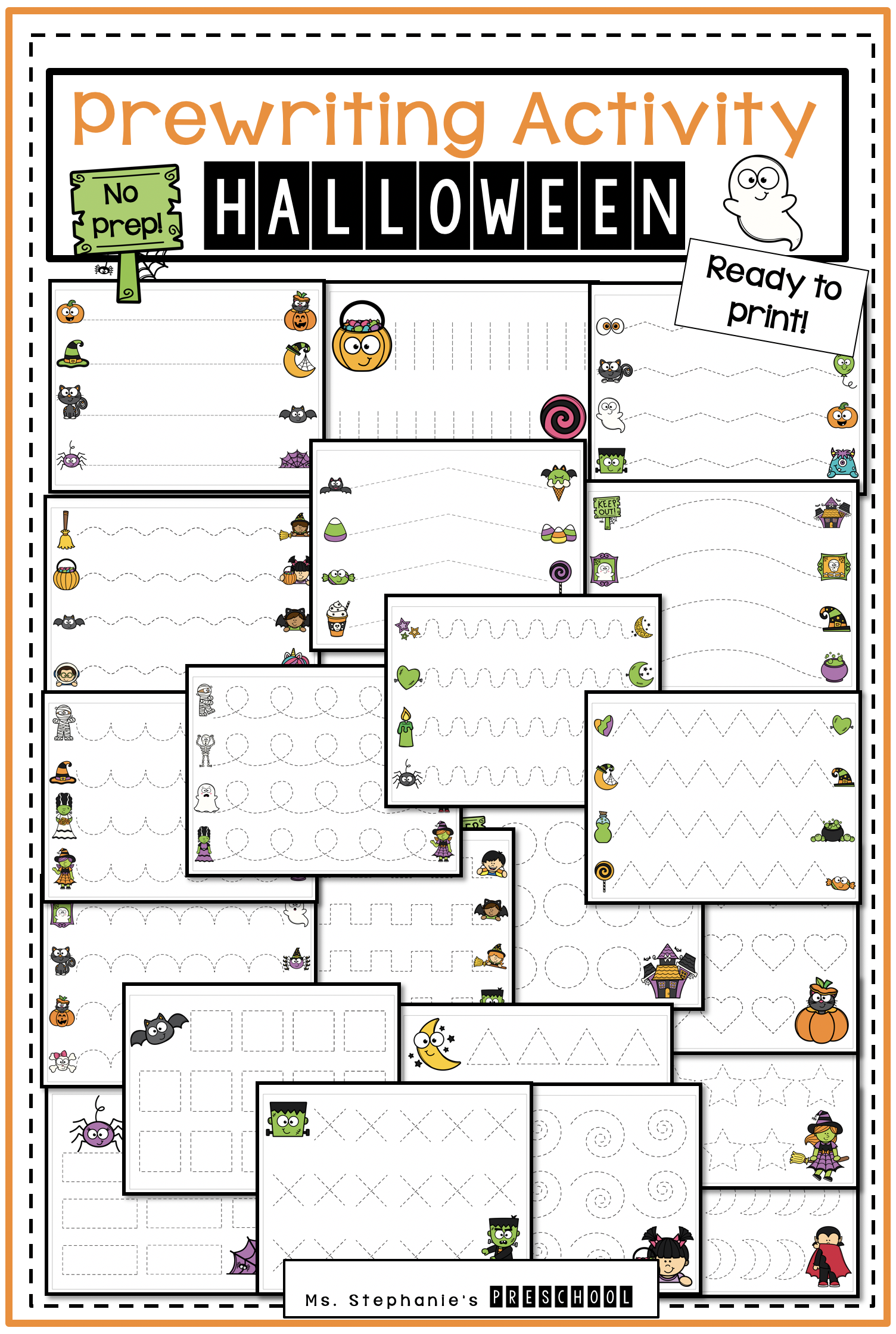 Prewriting Halloween Activity In 2020 | Pre Writing