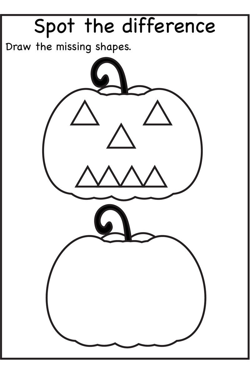 Printable Activity Books For 3 Year Olds Shape | Halloween