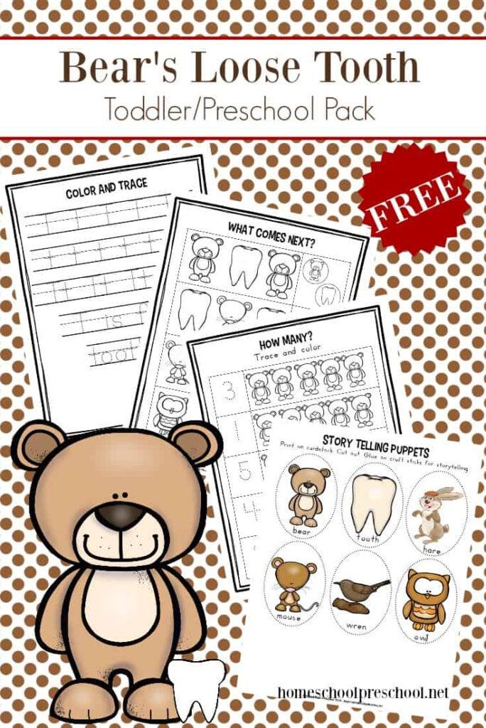 Printable Big Hungry Bear Activities For Preschoolers