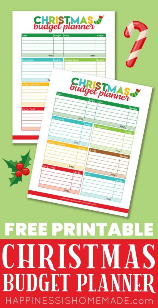Printable Christmas Budget Planner   Happiness Is Homemade