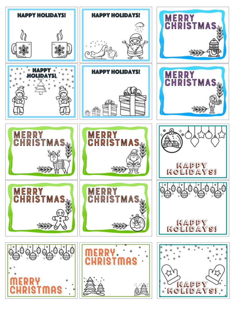 Printable Christmas Cards – Esl Flashcards