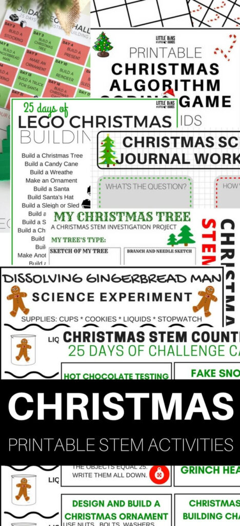 Printable Christmas Stem Activities And Science Experiments