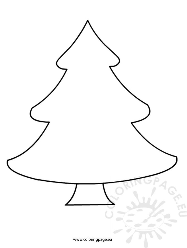 Printable Christmas Tree Coloring Pages Free Worksheets
