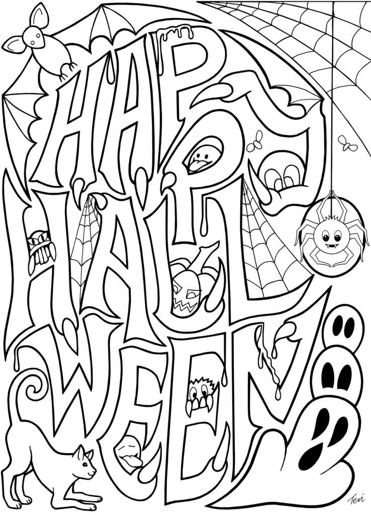 Printable Coloring Free Halloweenges Pdf Ghost To Print