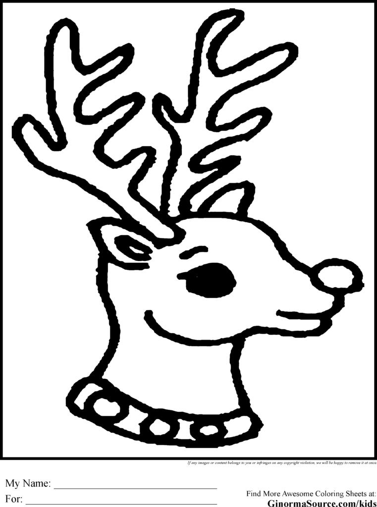 Printable Coloring Reindeer Sheet Santa Wild Christmas And