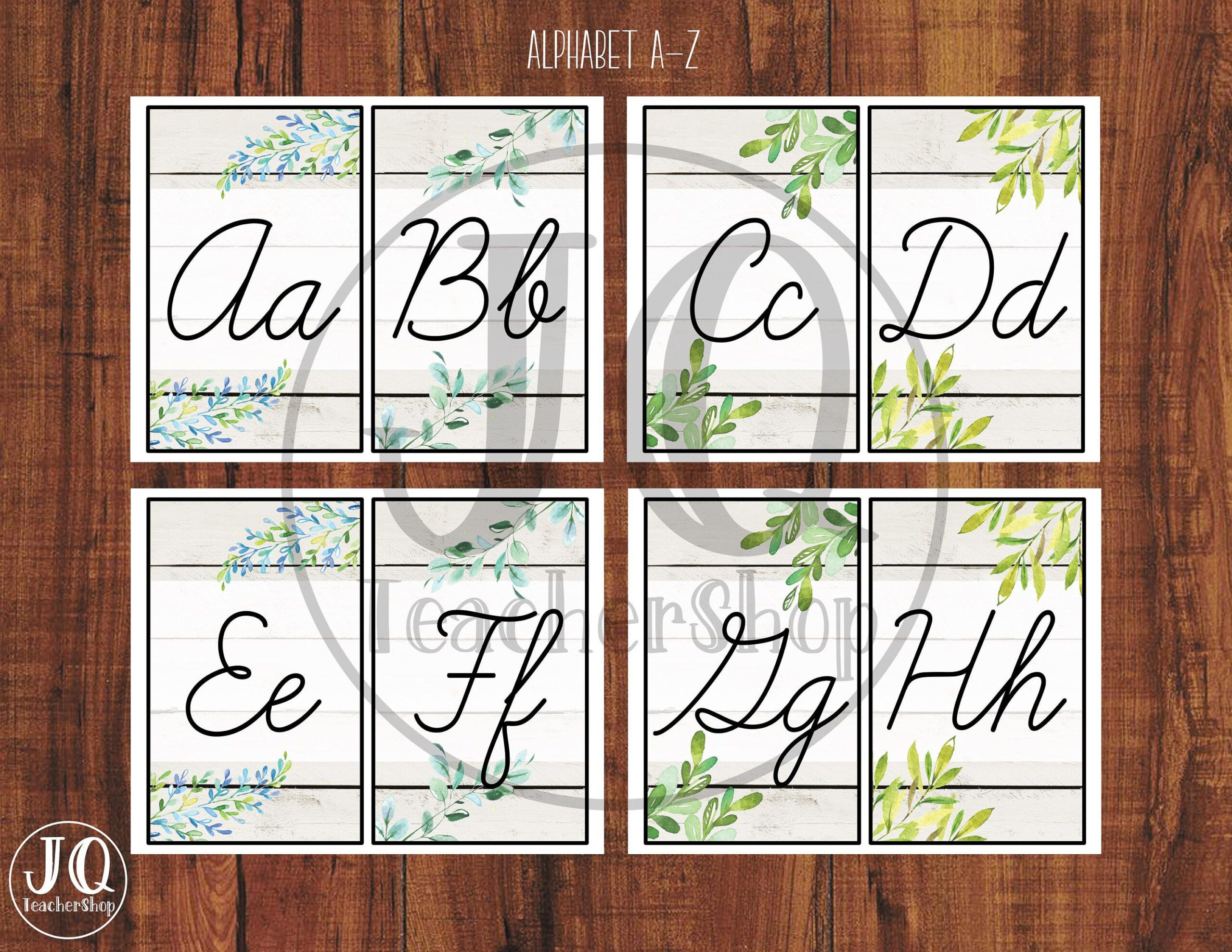 Printable Cursive Alphabet Wall Poster, Classroom Decor