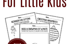 Printable Fine Motor Christmas Preschool Worksheets