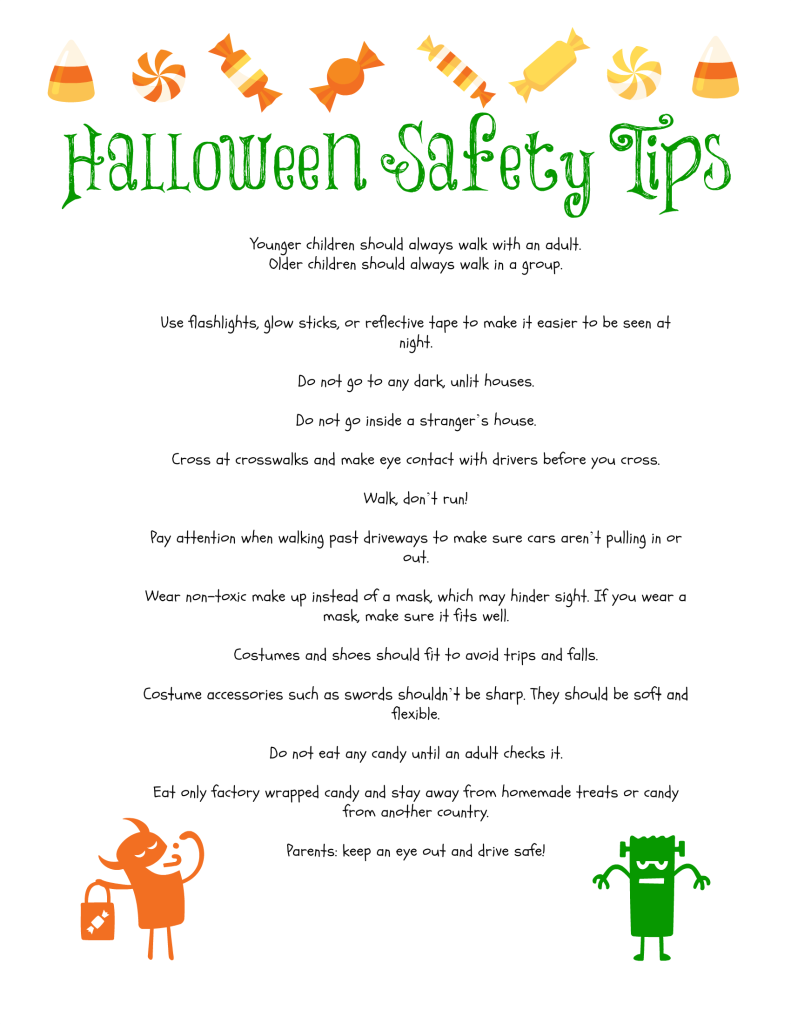Printable} Halloween Safety Tips - The Frugal Fairy