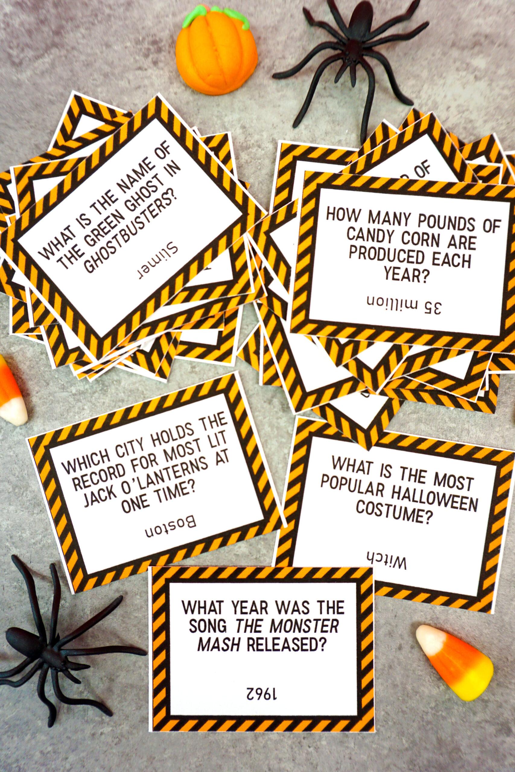 Printable Halloween Trivia Game - Happiness Is Homemade