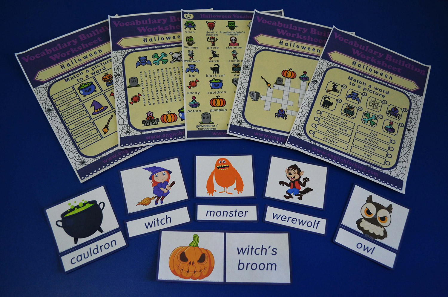 Printable Halloween Worksheets, Flashcards And Games
