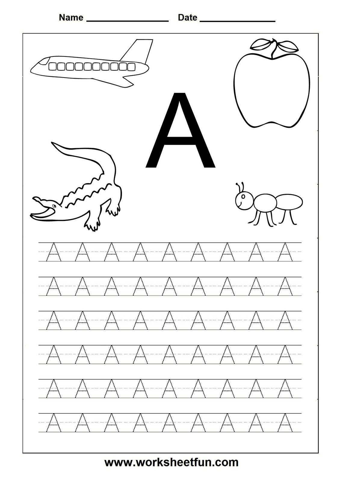 Printable Letters For Preschoolers - Paul's House | Alphabet intended for Alphabet Tracing A