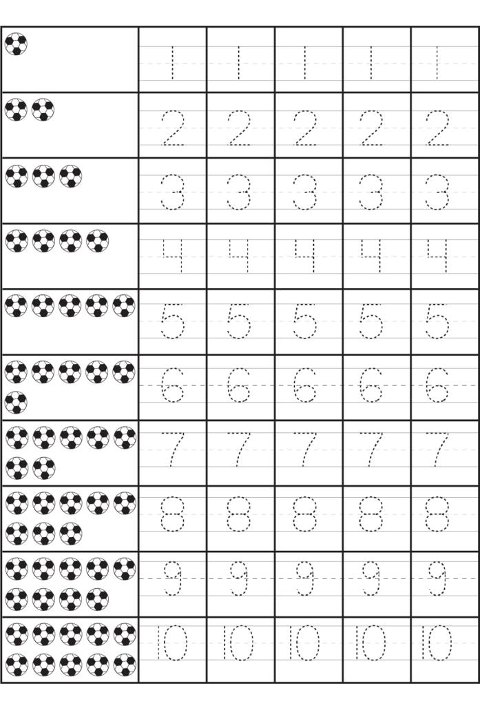 Printable Number Practice Sheets | Numbers Preschool, Free
