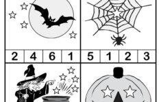 Halloween Counting Worksheet Kindergarten