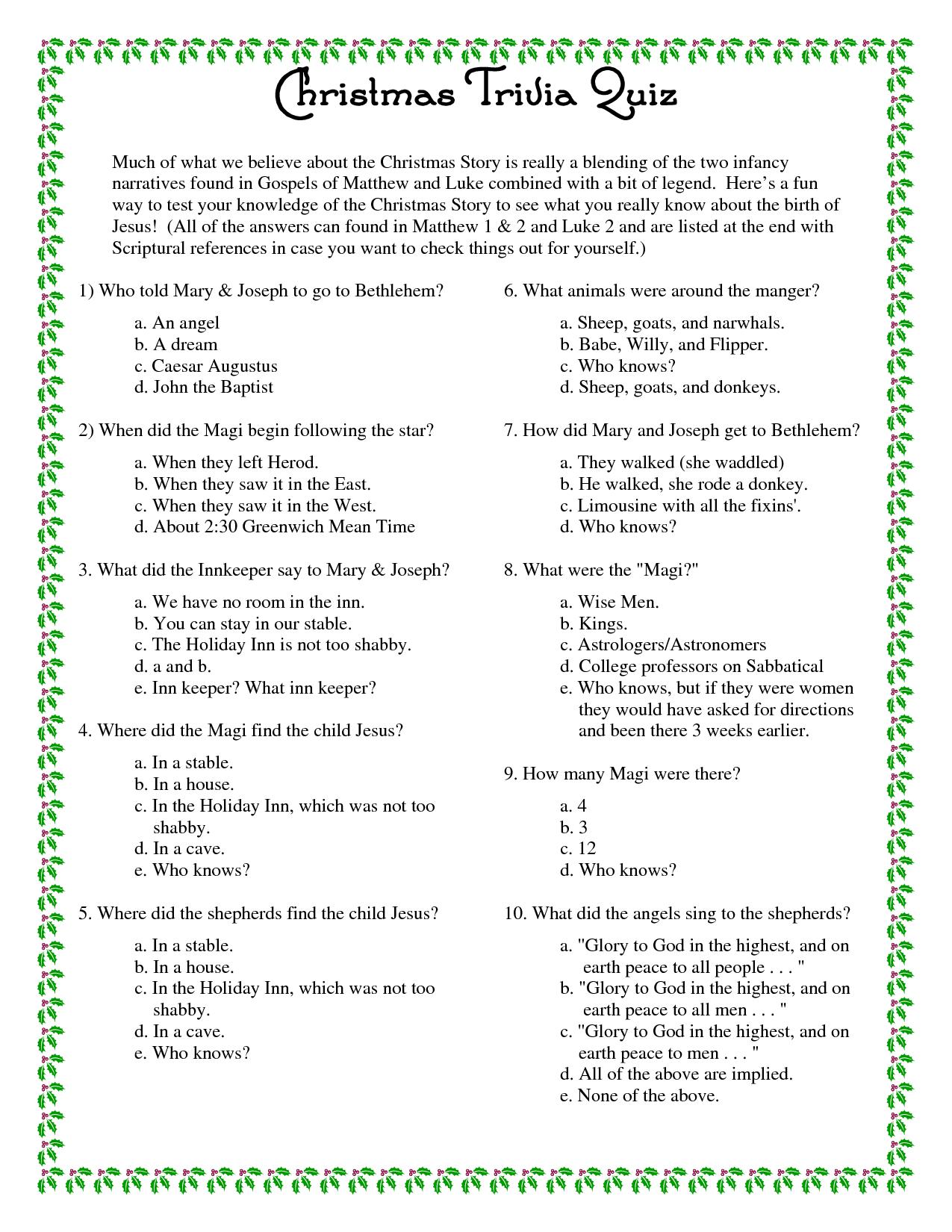 Printable+Christmas+Trivia+Questions+And+Answers | Christmas