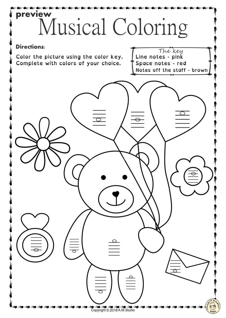 Printableg Free Music Worksheets Elementary For Kids Pdf