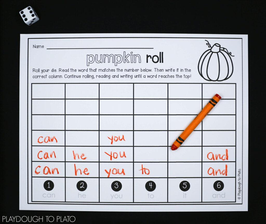 Pumpkin Activity Packet   Playdough To Plato