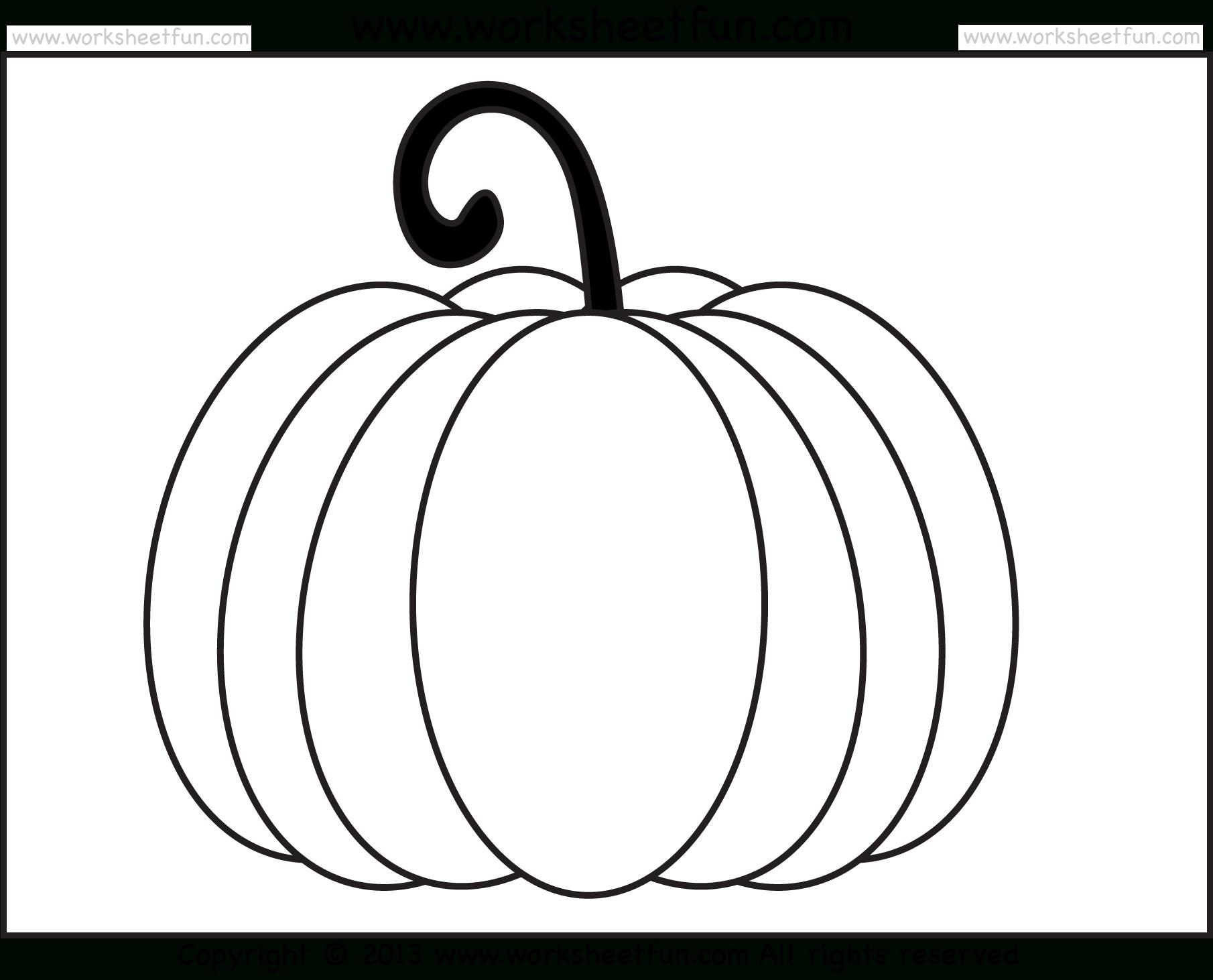 Pumpkin Coloring – 3 Worksheets / Free Printable Worksheets