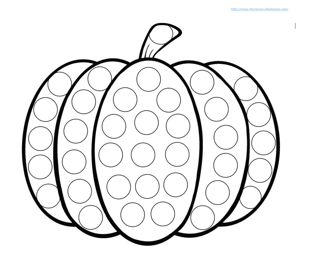 Pumpkin Do A Dot Worksheet   The Resourceful Mama