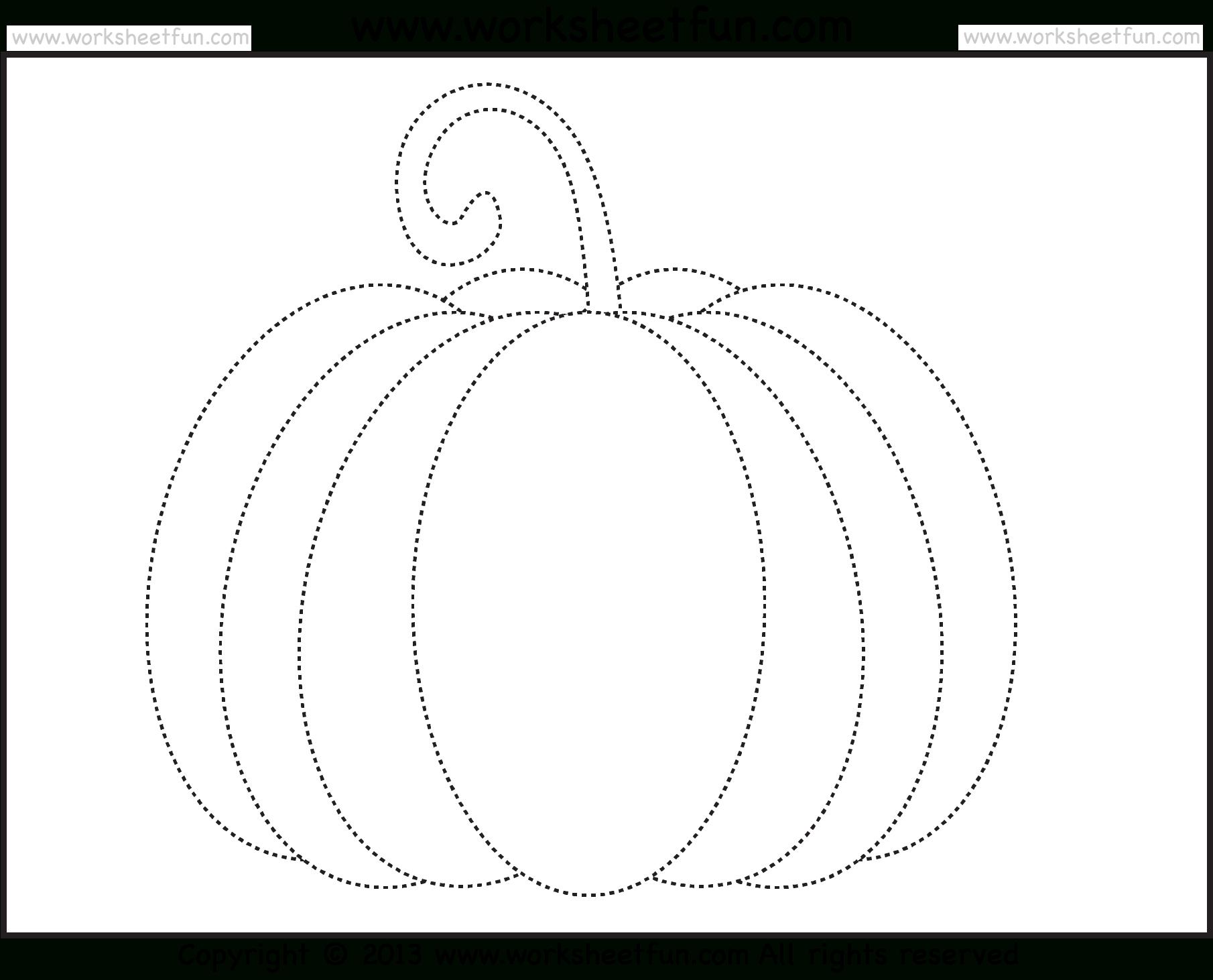 Pumpkin Tracing – 3 Worksheets / Free Printable Worksheets