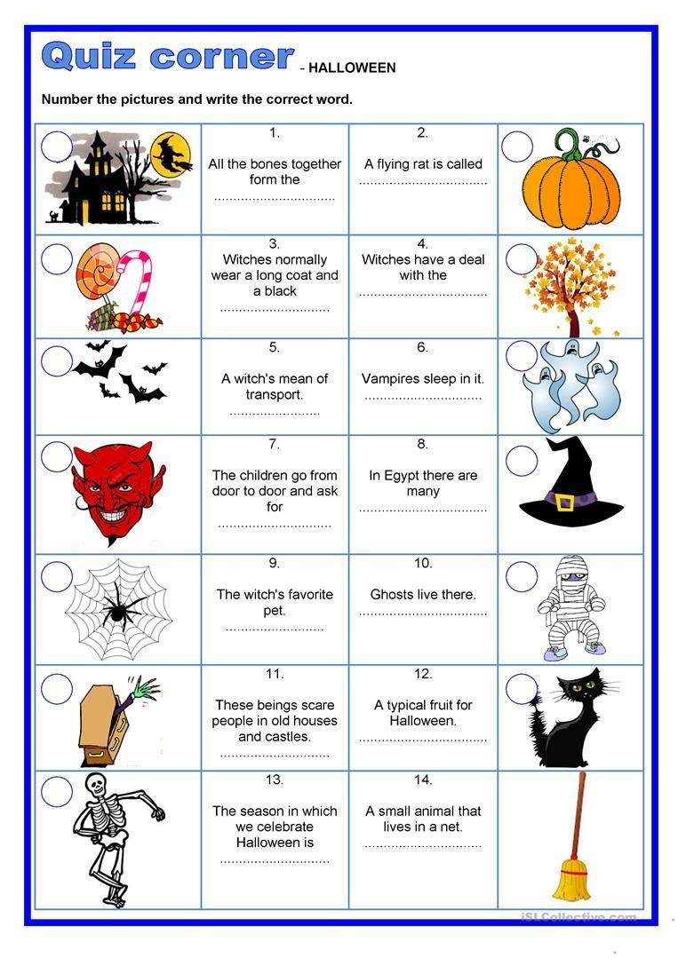 Quiz Corner - Halloween | Halloween Quiz, Halloween