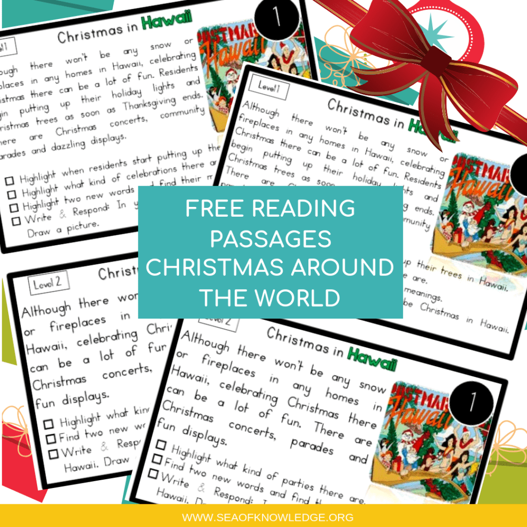Reading Comprehension Passages Christmas Around The World