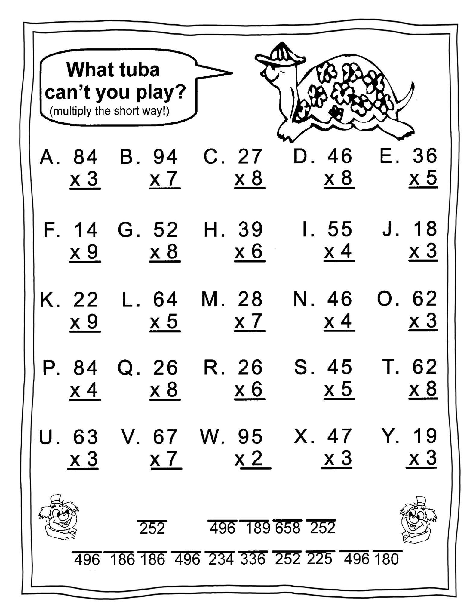 Reading Worksheets Mathematics 3Th Astonishing Image