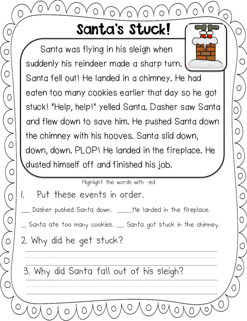 Santa Stuck Freebie.pdf   Google Drive | Christmas Reading