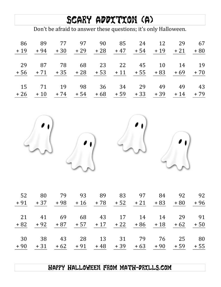 Scary Addition With Double-Digit Numbers (A)