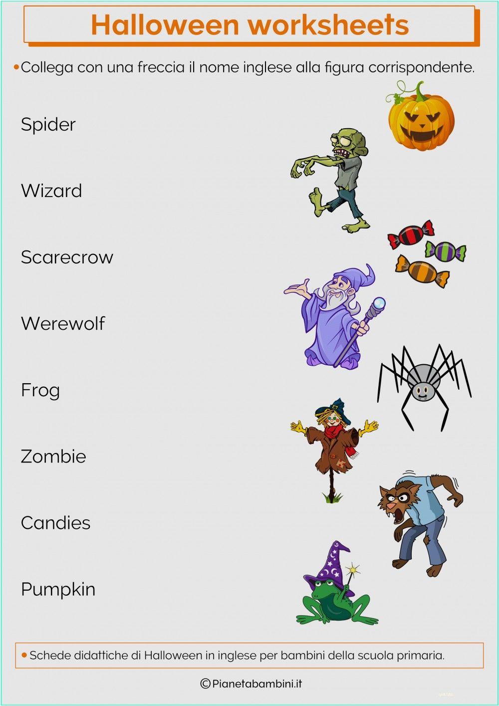 Schede Didattiche Di Halloween In Inglese Per La Scuola