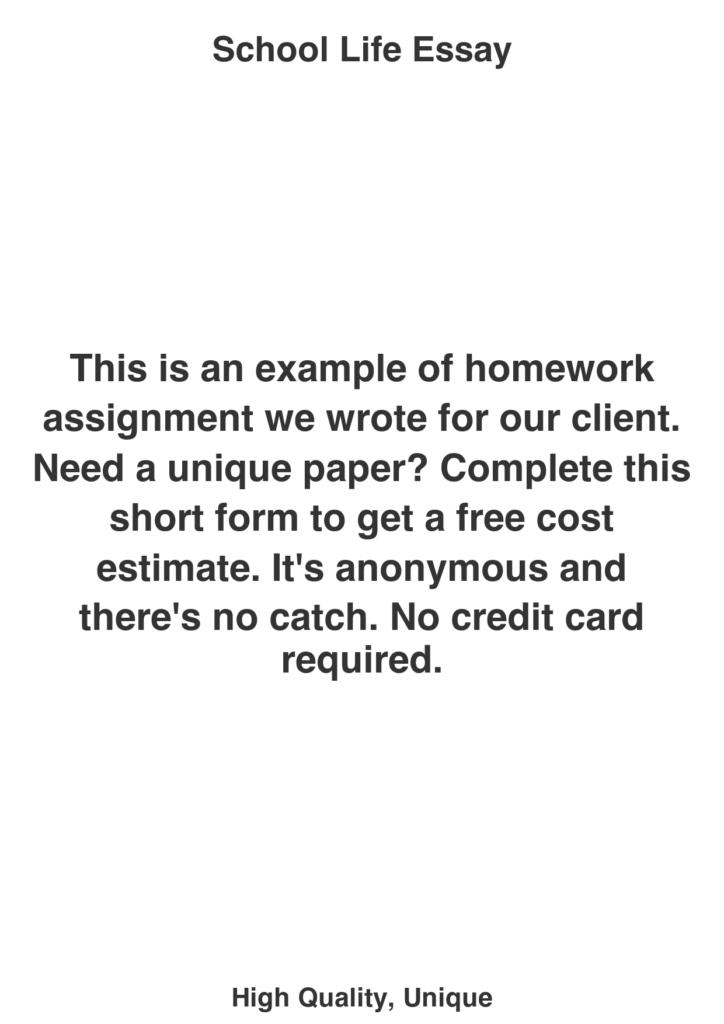 School Life Essay   College Paper Writing Service Catalog