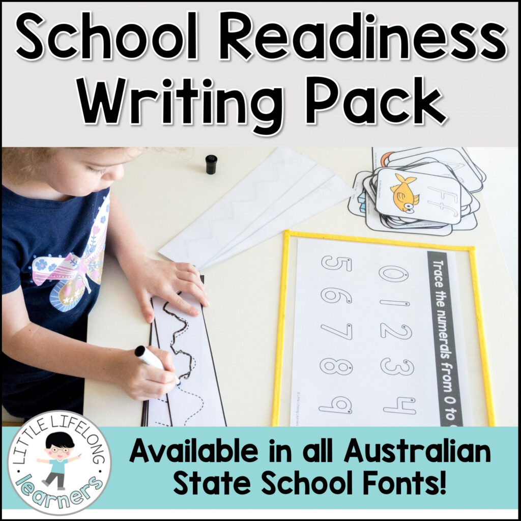 School Readiness Writing Pack Within Name Tracing Nsw Font