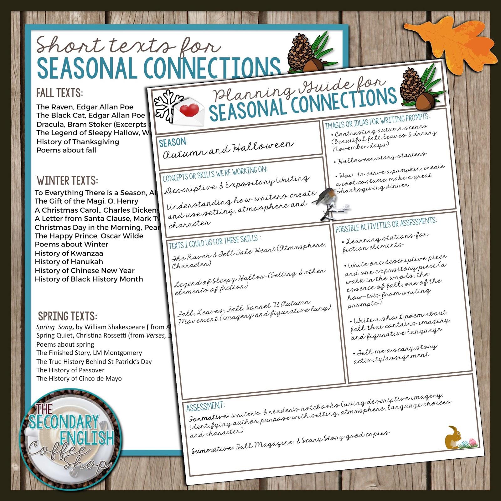 Seasonal Fun For Secondary Teachers - The Secondary English