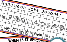 Halloween Secret Code Worksheet