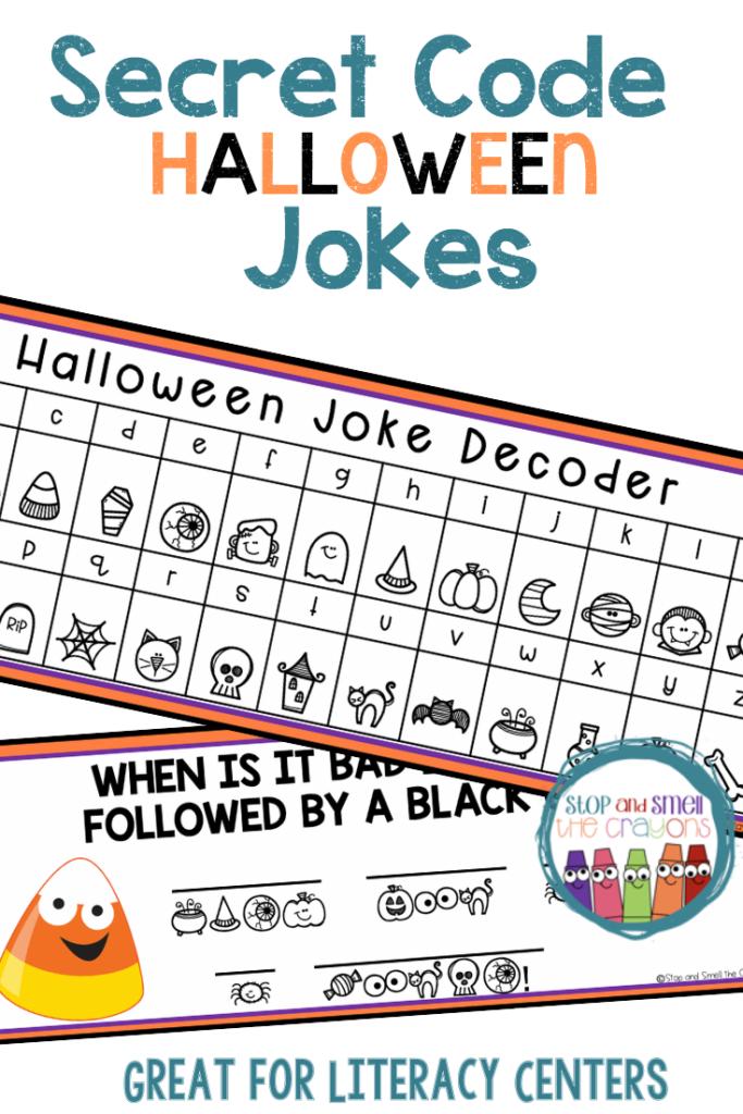 Secret Code Worksheets Halloween Activities   Literacy