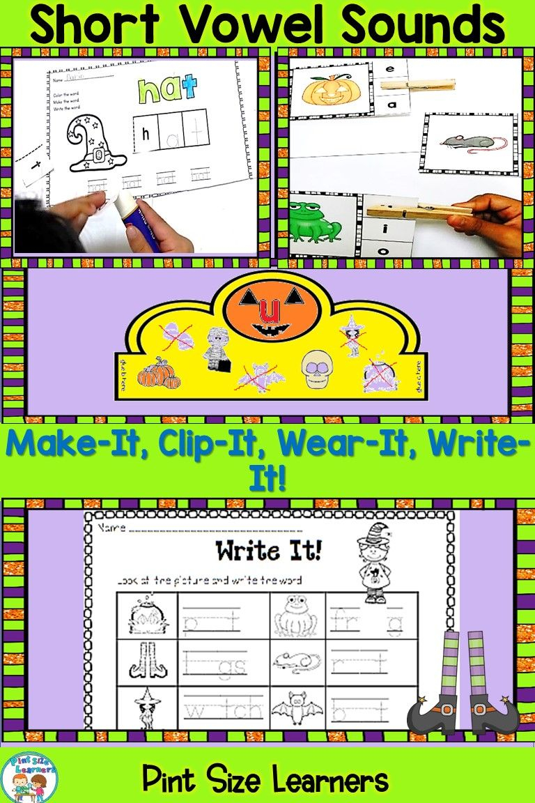 Short Vowel Activities   Halloween Themed Vowel Centers