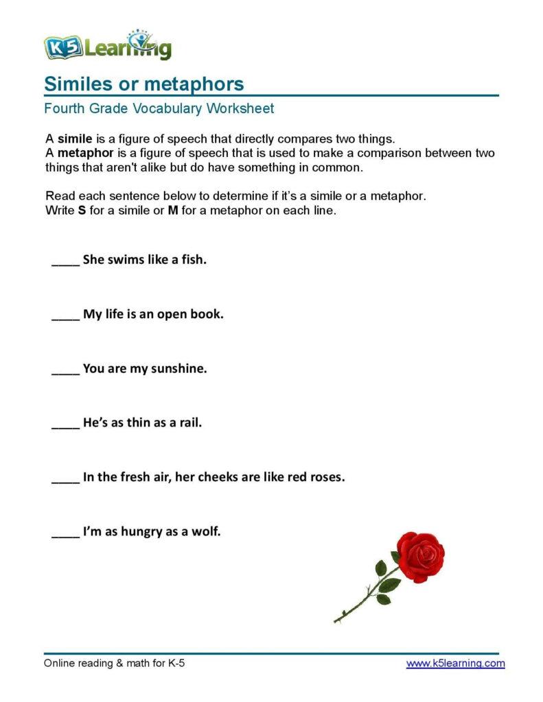 Similes & Metaphors | Similes And Metaphors, Word Problem