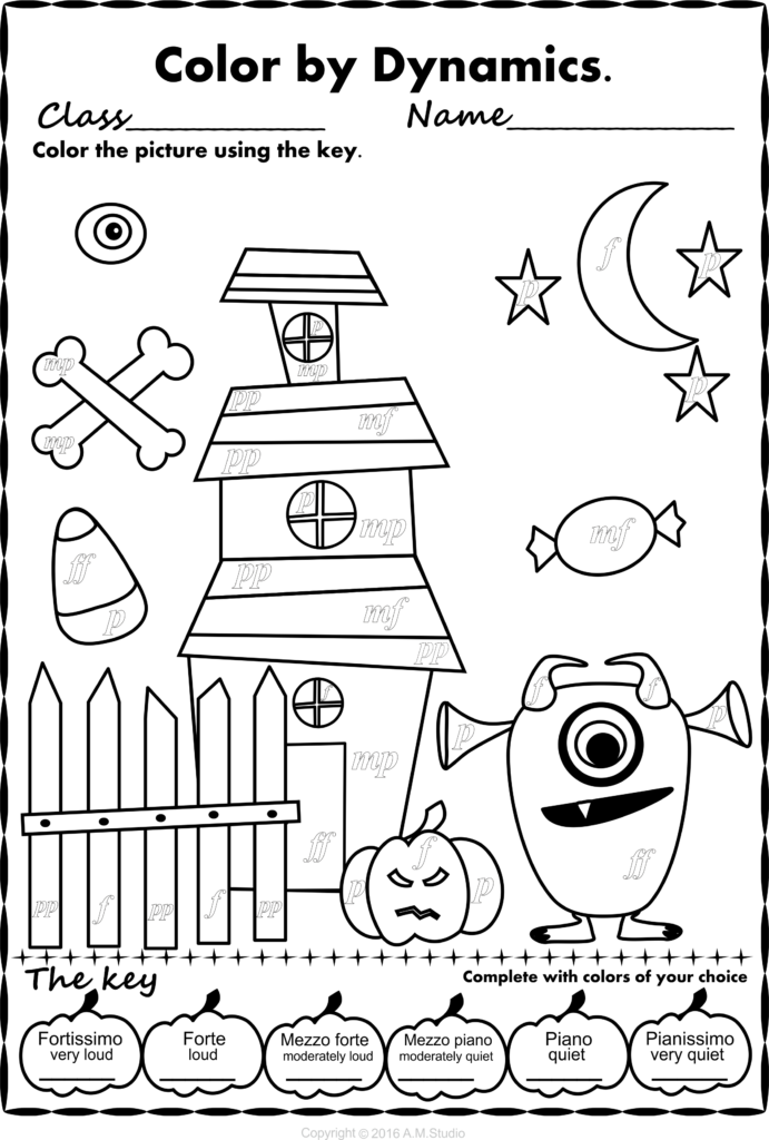 Simple And Fun Halloween Music Activity For Kids. This Set