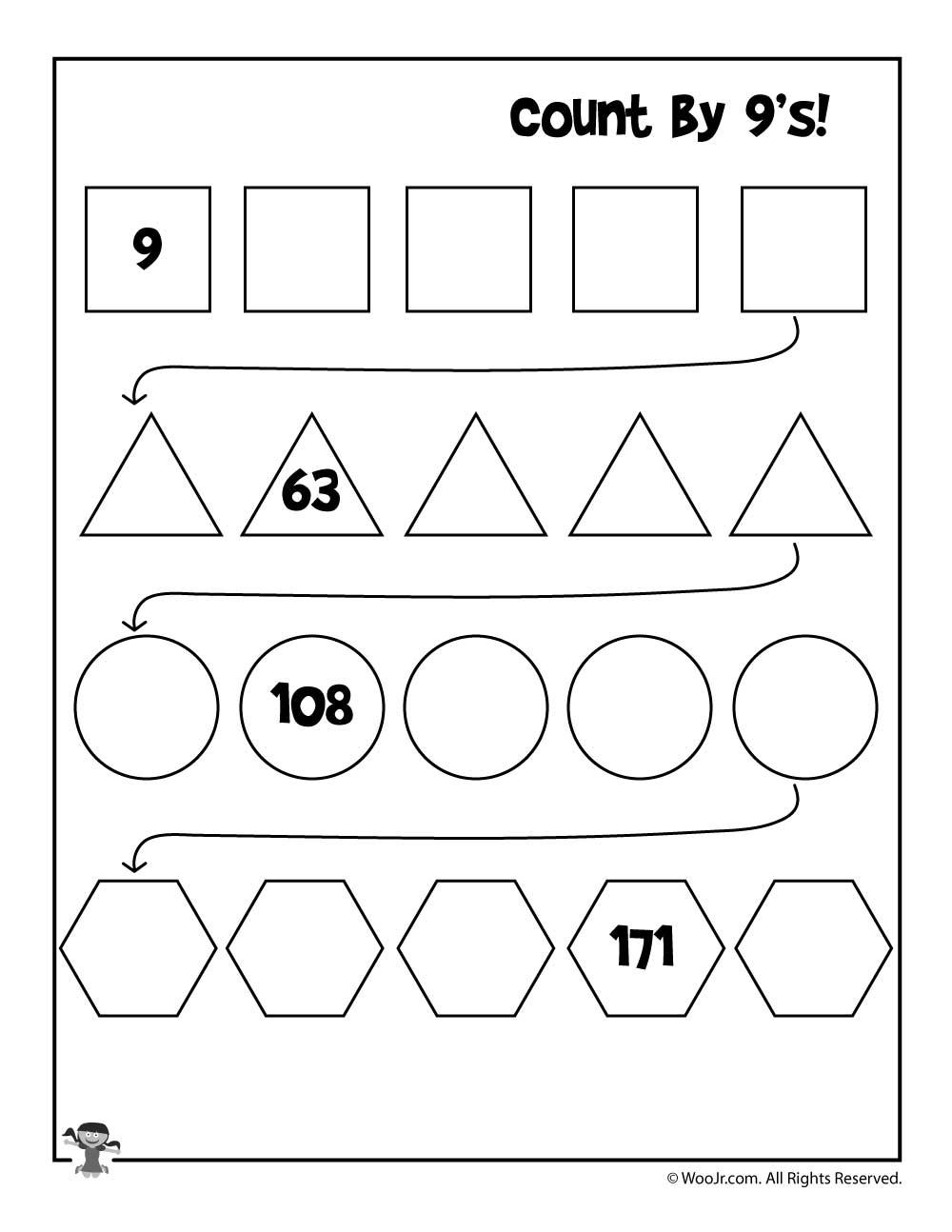 Simple Skip Counting Worksheets To Print | Woo! Jr. Kids